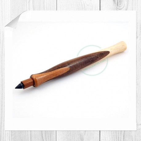 Black walnut, Mahogany, Ash wood lead pencil Carmen