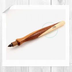 Wooden lead pencil Figaro, mahogany-ash-black walnut