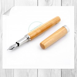Penna stilografica in legno di ciliegio