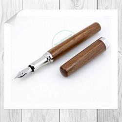 Penna stilografica Corfino in Noce nero
