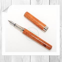Penna stilografica Corfino in Mogano