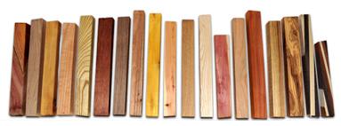 Essenze in legno usata per la creazione di penne stilografiche e matite.